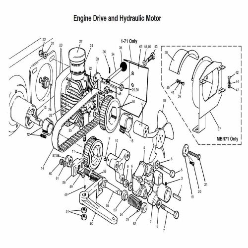 Engine drive & hydraulic motor