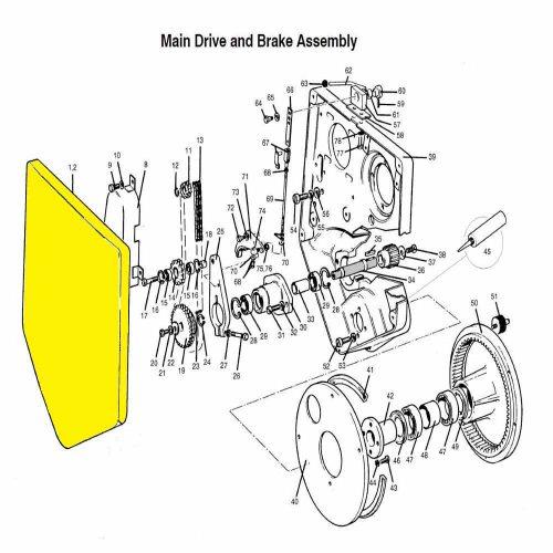 Main drive & brake assembly