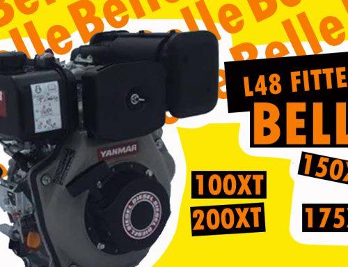 Belle Premier 100XT, 150XT, 175XT and 200XT mixer replacement Yanmar L48N Engine